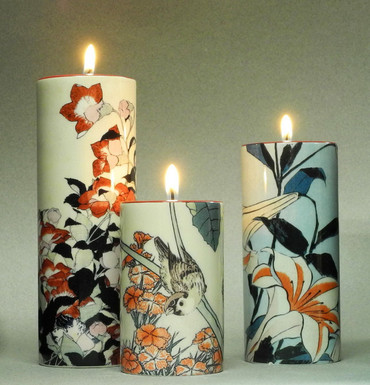 "MUSEUMS TEELICHTHALTER - ""Katsuhika Hokusai"" - 3er - SET Teelichthalter - NEU !! – Bild 1"
