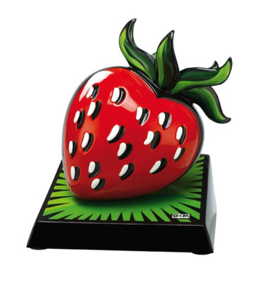 "BURTON MORRIS - POP ART  ""Strawberry - Skulptur"" limit. Edition 500 Ex. weltweit"