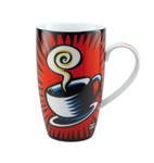 "BURTON MORRIS - POP ART - ""Coffee Break - Künstlerbecher"" rot-red-rouge-rosso 001"