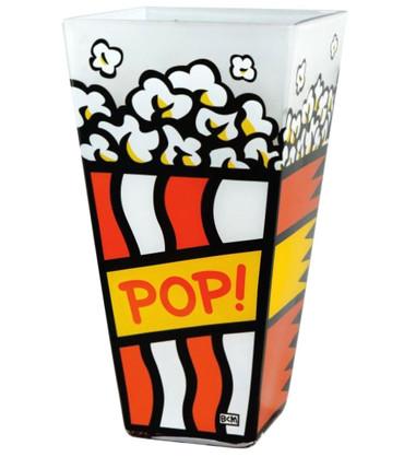 "BURTON MORRIS - POP ART - ""Pop! - Red"" Vase - Vaso - Florero / Glas(s) - Verre"