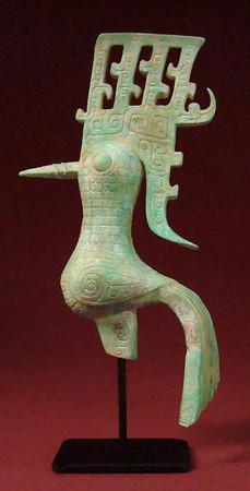 Shu Bronze der Shang-Dynastie - Vogel ART CHINOIS Skulptur CH05