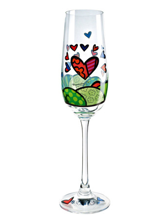 A NEW DAY Sektglas Romero Britto