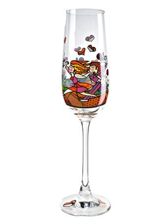 LOVE BLOSSOMS Sektglas Romero Britto