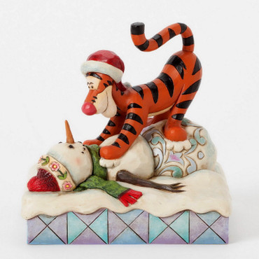 """DISNEY-Skulptur - """"TIGGER WITH SNOWMAN""""  Weihnachten Jim Shore Figur 4039044 – Bild 1"""