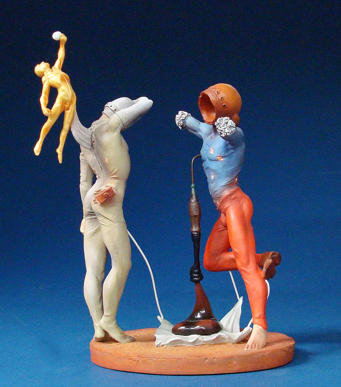 SALVADOR DALI Skulptur Poesie d/'Amerique Die kosmischen Athleten Parastone SD11