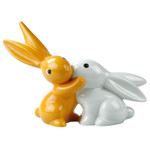 "BUNNY DE LUXE Hasenpaar aus Goebel Porzellan ""ORANGE SUNRISE BUNNY IN LOVE"" NEU! 001"