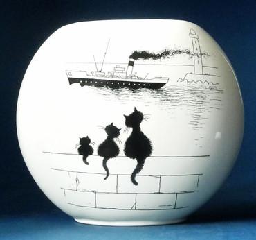 LE TRIO Vase Albert Dubout – Bild 1