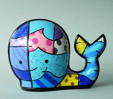 "ROMERO BRITTO POP ART aus Miami Skupltur ""WHALE"" limited Edition Figur - NEU !!"