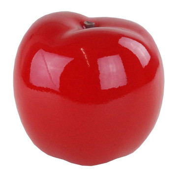 APPLE RED Skulptur Ø 18cm DekoArt