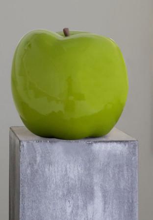 APPLE GREEN Skulptur Ø 26 cm DekoArt – Bild 3