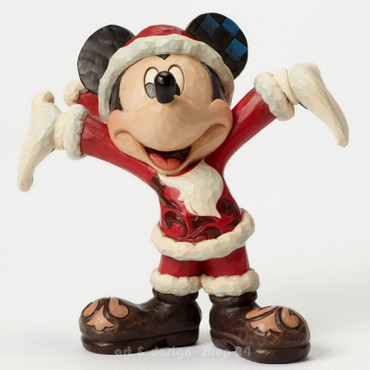 "DISNEY Skulptur - ""MICKEY MOUSE - CHRISTMAS CHEER"" Jim Shore Figur 4046016 NEU ! – Bild 1"