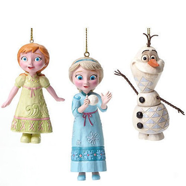 "DISNEY Skulpturen - ""ELSA - ANNA & OLAF"" - Jim Shore Figuren Set - A27548 NEU ! – Bild 1"