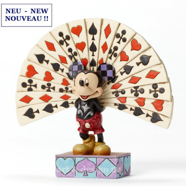 "ENESCO DISNEY Skulptur - ""MICKEY CARDPLAYER"" - Jim Shore Figur 4050405 - NEU !! – Bild 1"
