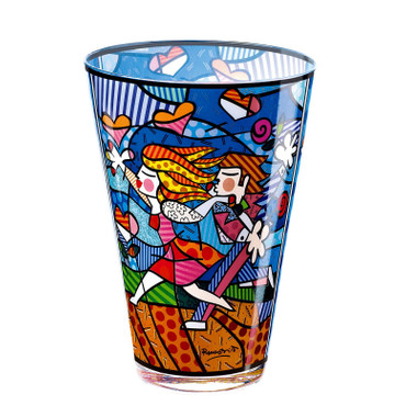 LOVE BLOSSOMS Vase Glas Romero Britto