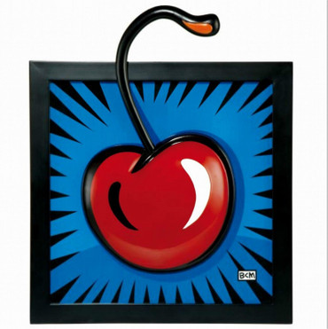"BURTON MORRIS - POP ART - ""Cherry - Reliefbild"" - Porcelaine Tableau - Picture"