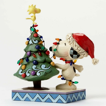 Snoopy With Christmas Tree - THE PEANUTS Skulptur 4045917  – Bild 2