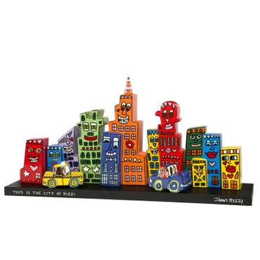 "JAMES RIZZI POP ART - Skulpturen Set ""Mini Skyline"" limted Edition von 500 NEU!!"