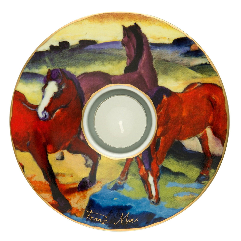 """Die roten Pferde 1911/"""" GOEBEL PORZELLAN TEELICHTHALTER  /""""Franz Marc NEU!!"""