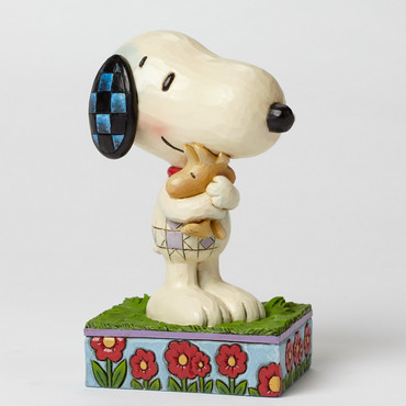 Snoopy & Woodstock Hugging - THE PEANUTS Skulptur 4042377   – Bild 1
