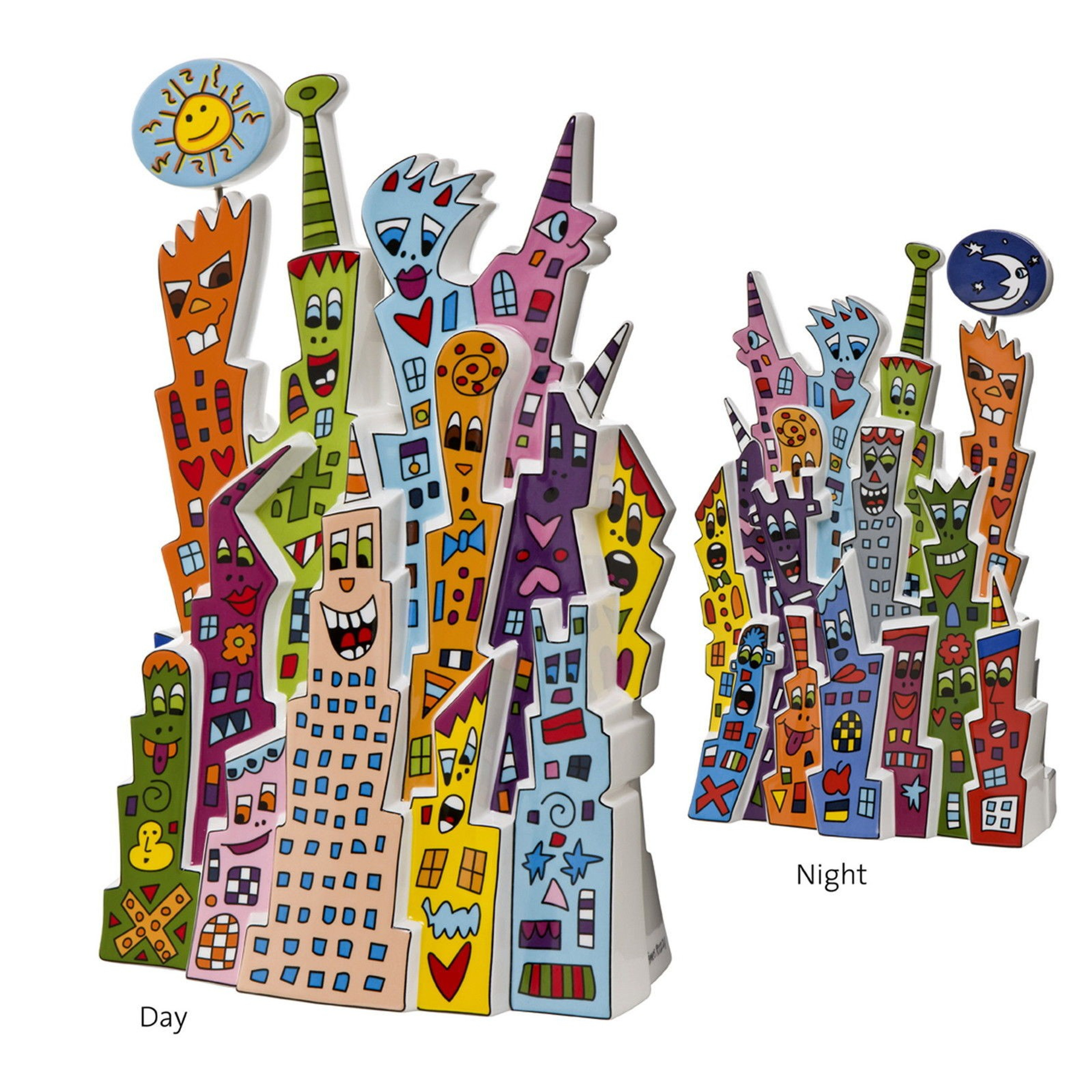 james rizzi pop art kunst skulptur day and night limitited edition 500 pcs limitiert james. Black Bedroom Furniture Sets. Home Design Ideas
