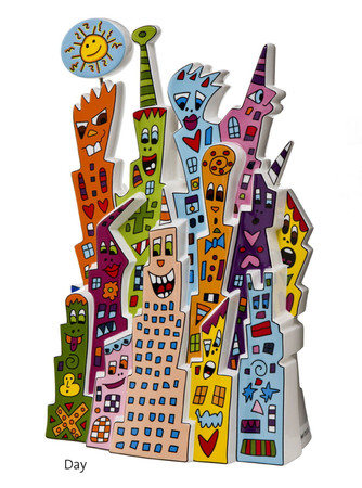 DAY AND NIGHT Skulptur limitiert James Rizzi – Bild 1