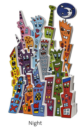DAY AND NIGHT Skulptur limitiert James Rizzi – Bild 2