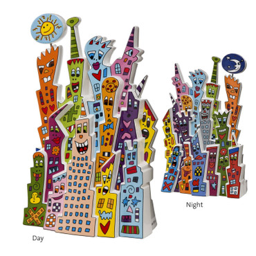 DAY AND NIGHT Skulptur limitiert James Rizzi – Bild 3