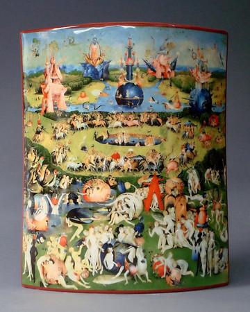 """MUSEUMSVASE - """"Hieronymus Bosch - Garten der Lüste"""" - Designer Vase - NEU !!"""