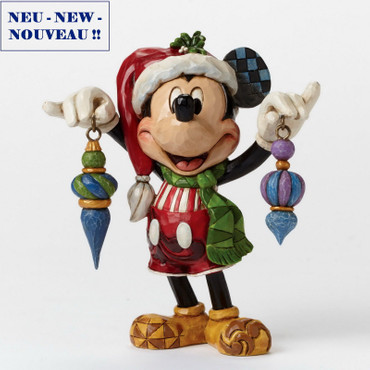 "DISNEY Skulptur ""MICKEY MOUSE - Deck the Halls"" Jim Shore Figur 4046064 NEU !! – Bild 1"