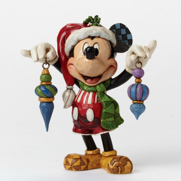 "DISNEY Skulptur ""MICKEY MOUSE - Deck the Halls"" Jim Shore Figur 4046064 NEU !! – Bild 4"