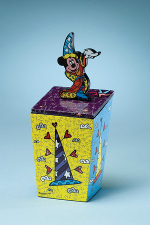 "ROMERO BRITTO - DISNEY POP ART - ""Mickey Mouse - Lidded Box"" Aufbewahrungsbox"