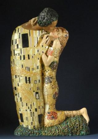 Der Kuss -L- GUSTAV KLIMT Skulptur KL21G