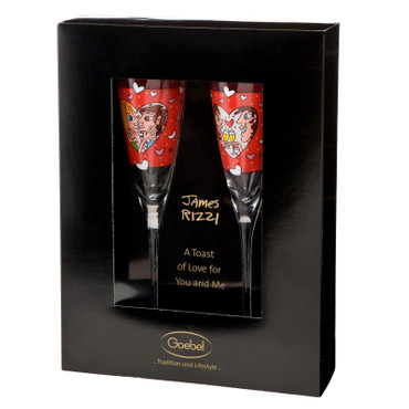 TOAST OF LOVE Glas Set limitiert James Rizzi