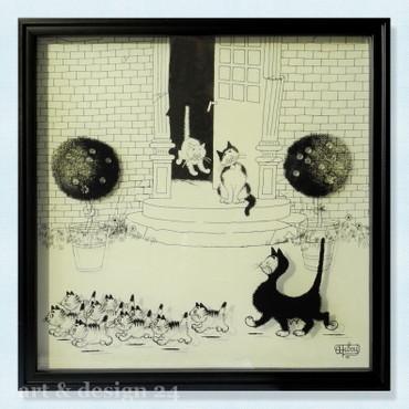 """ALBERT DUBOUT DUB201 """"La Promenade"""" 3D-Effekt - Shadowbox - Cadre d'ombre – Bild 1"""