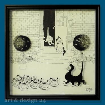 """ALBERT DUBOUT DUB201 """"La Promenade"""" 3D-Effekt - Shadowbox - Cadre d'ombre – Bild 2"""