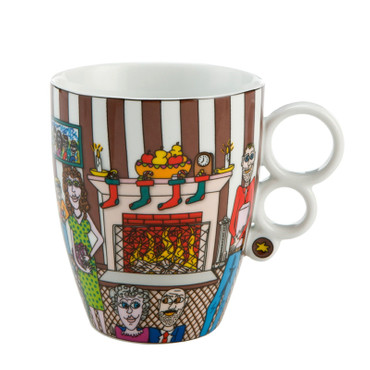 CHRISTMAS WITH THE FAMILY Teetasse James Rizzi – Bild 1