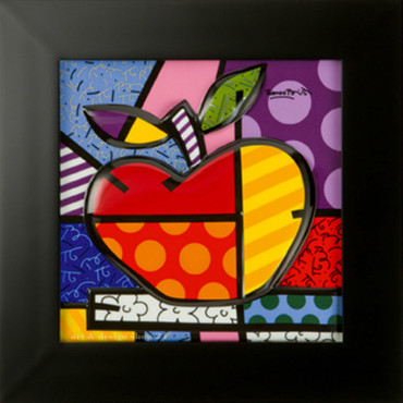 BIG APPLE - Reliefbild - limitiert - Romero Britto