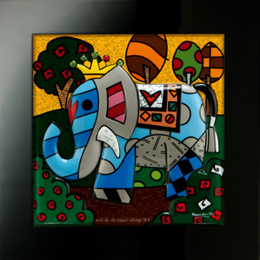 GREAT INDIA 1 - Reliefbild - limitiert - Romero Britto
