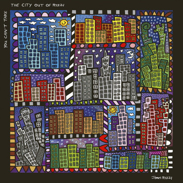 "JAMES RIZZI POP ART - Magnettafel ""Rizzi City"" - Memoboard Glas/Metall - NEU !! – Bild 2"