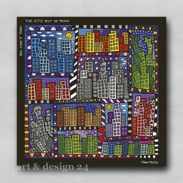 "JAMES RIZZI POP ART - Magnettafel ""Rizzi City"" - Memoboard Glas/Metall - NEU !! – Bild 3"