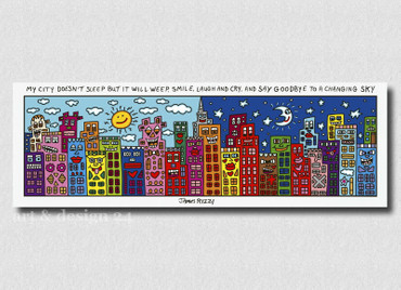"JAMES RIZZI POP ART - Magnettafel ""My City ..."" - Memoboard Glas/Metall - NEU !! – Bild 1"