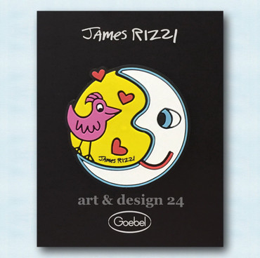 "JAMES RIZZI POP ART - ""MOON - HEART - TAXI - CAR RED"" Magnete Set aus 4 Stück – Bild 2"