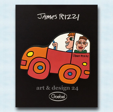 "JAMES RIZZI POP ART - ""MOON - HEART - TAXI - CAR RED"" Magnete Set aus 4 Stück – Bild 5"