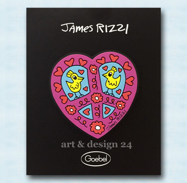 "JAMES RIZZI POP ART - ""HEART"" Magnet in Geschenkverpackung"