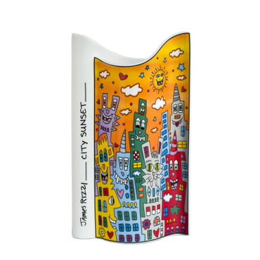 "JAMES RIZZI - POP ART - Vase Goebel Porzellan - ""CITY SUNSET"" H = 17.00 cm NEU!! – Bild 2"