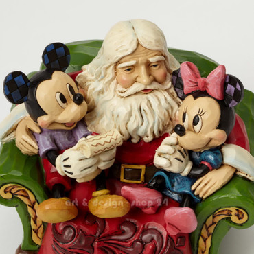 CHRISTMAS WISHES Mickey&Minnie Skulptur Jim Shore – Bild 3