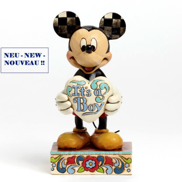 "DISNEY TRADITIONS Skulptur ""MICKEY - IT`S A BOY"" Jim Shore Figur 4043663 NEU !! – Bild 1"