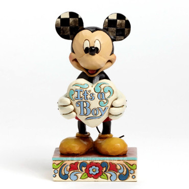 "DISNEY TRADITIONS Skulptur ""MICKEY - IT`S A BOY"" Jim Shore Figur 4043663 NEU !! – Bild 3"