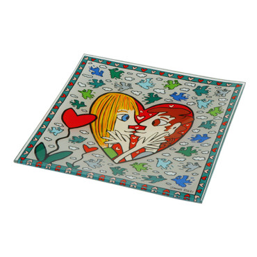 I SQUARE I LOVE YOU Schale Glas James Rizzi