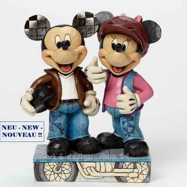 "DISNEY - Skulptur - ""MICKEY & MINNIE BIKER"" - Jim Shore Figur  4043652 NEU !! – Bild 1"